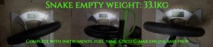 Snake empty weight figure